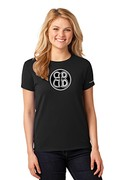 Ladies Buoncristiani Logo Shirt - Black with White Logo